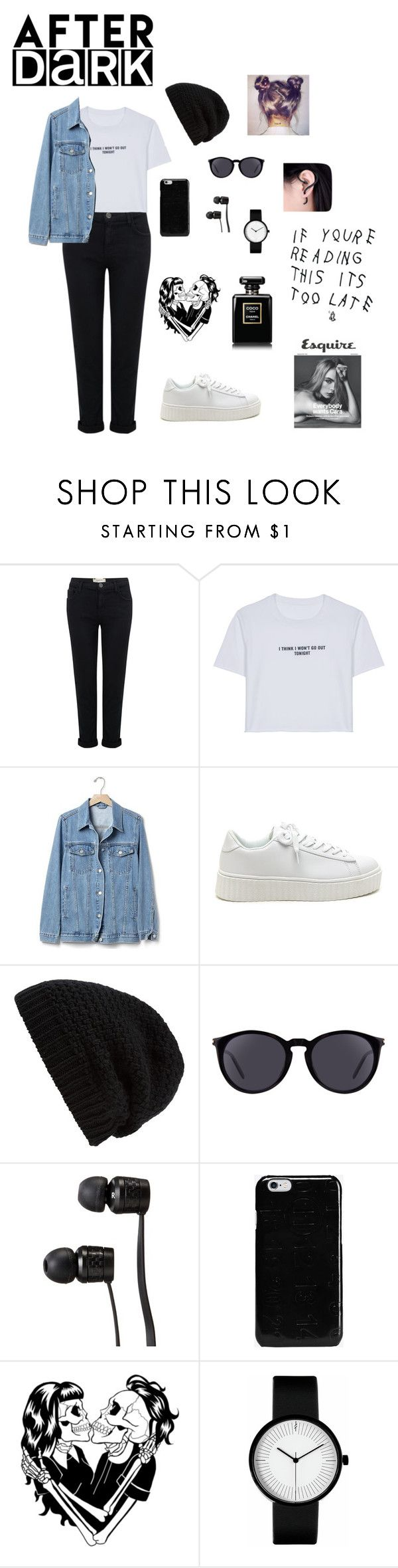 """DARK"" by martizlee ❤ liked on Polyvore featuring Current/Elliott, WithChic, Gap, Rick Owens, Yves Saint Laurent, Vans, Maison Margiela, Deandri, BackToSchool and blackandwhite"
