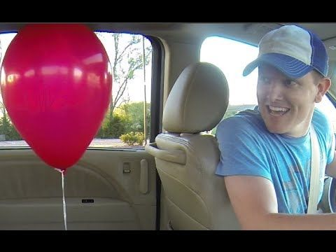 pendulum vs balloon in a moving car.  #SmarterEveryDay . I've heard this guy talk - his youtube videos are AWESOME.