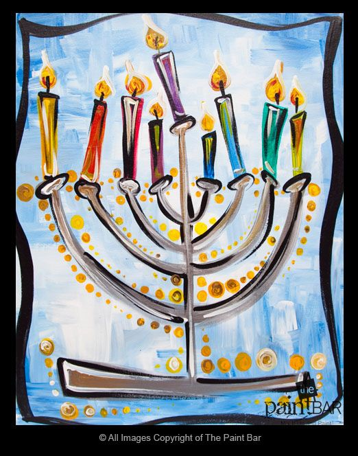 Chanukah Menorah Painting