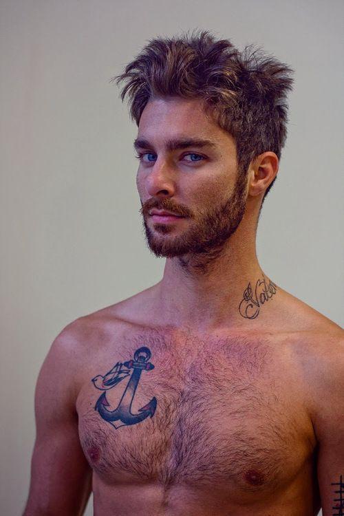 Cool Chest Tattoo Like Hair: Mens Medium To Long