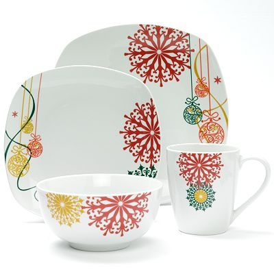 How pretty! How different from the usual holiday patterns! Corsica Home Holiday Jewel 16  sc 1 st  Pinterest & 29 best Need dishes!!! images on Pinterest | Dinnerware Dinnerware ...