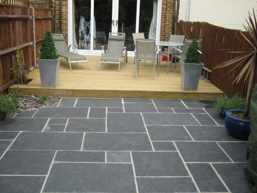 26 best images about new garden ideas on pinterest for Garden decking and slabs