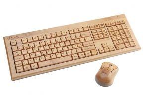 Bambus Tastatur, mit Funkmaus