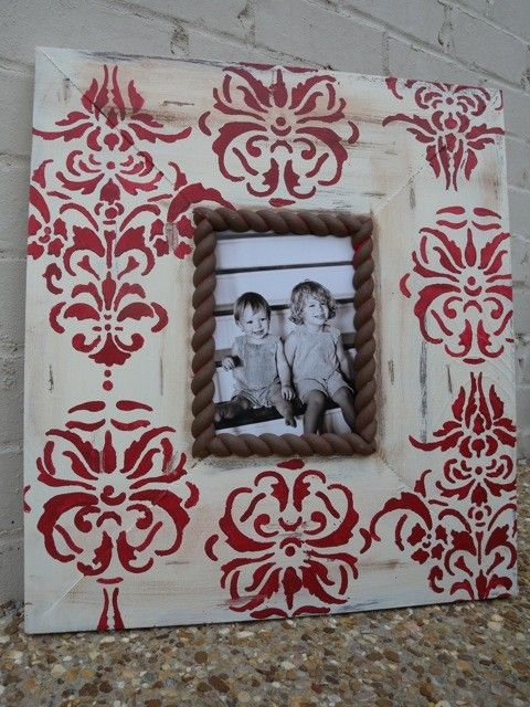 Christmas Red Picture Frame French Damask on by deltagirlframes