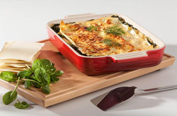 Italienische Lasagne schmeckt besonders gut, wenn Sie in der stilvollen #Auflaufform von #LeCreuset gebacken wird.