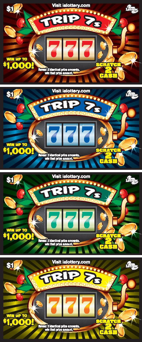 Trip 7s launched at Iowa Lottery retailers May 2, 2016. The $1 game offers top prizes of $1,000!