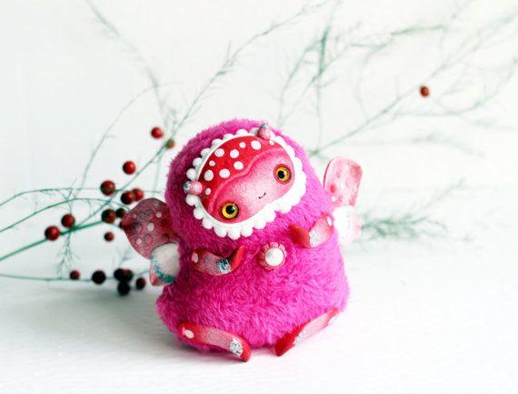 lieveheersbeestje kunst pop lieveheersbeestje speelgoed insect fantasie fee pop magische schepsel speelgoed roze schattige pop roze fairy polymeer klei lieveheersbeestje