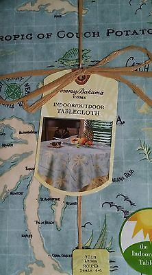 NEW Tommy Bahama Island Song 70-Inch Round Tablecloth, free ship