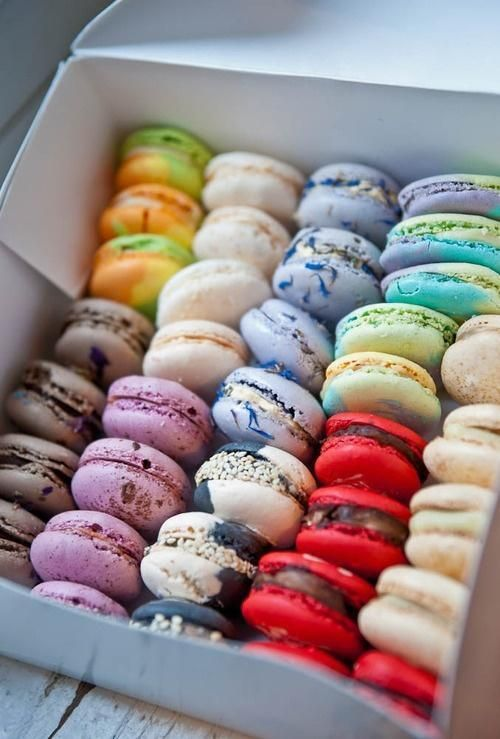 Macaroons: are a french pastry that comes in many different colors and flavors and they can come in simple designs or complicated pieces of art. Infatuation: <3<3<3