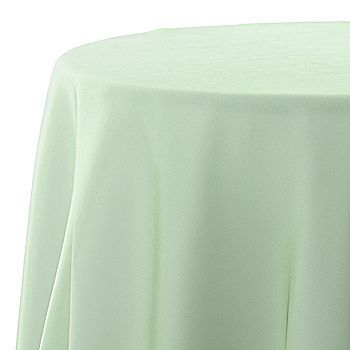 Finish off the look with a sheer in a complimenting colouring.  The celadon chiffon can also double up as sashes for the chairs to tie it all together.