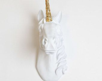 Unicorn Wall Art The Bayer Unicorn Head by WhiteFauxTaxidermy