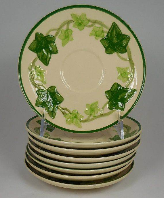 Set of 8 Franciscan Ivy Saucers Vintage & 11 best Franciscan Ivy images on Pinterest | Dinnerware Dish and Dishes
