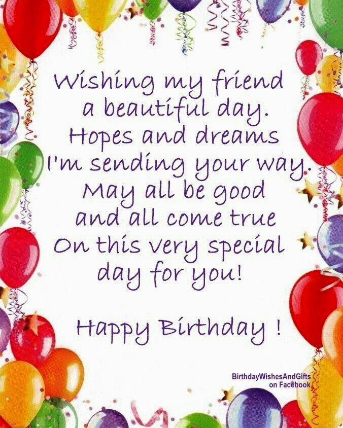 Pin by Laura Boswell on Birthday | Happy birthday friend