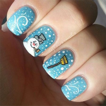 How great are these.  I love the creativity. well done..15+ Easy Snowman Nail Art Designs, Ideas, Trends, Stickers 2015
