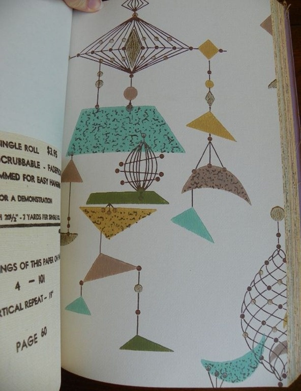 50s wallpaper sample book. I would LOVE this in a kitchen