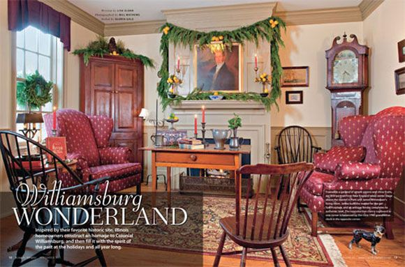 Country sampler home tour williamsburg wonderland for Williamsburg home decor
