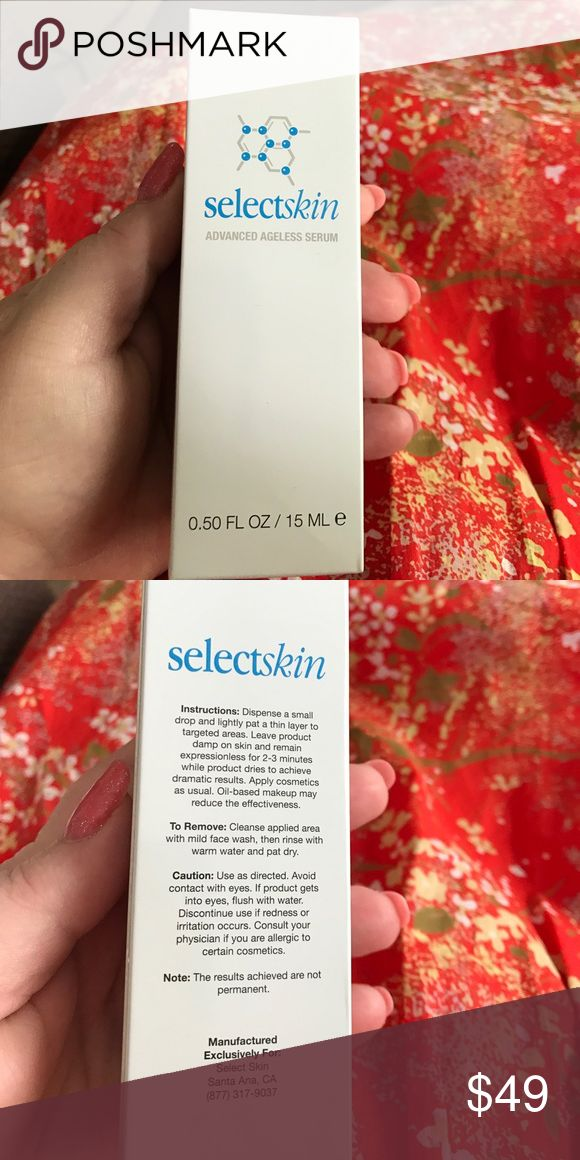 Selectskin Advance Ageless Serum A NIB skin serum. This is actually an amazing product. I've seen with my own eyes what it can do. It can take you skin back ten years in less than two weeks...for most, less time then that. I went a little crazy when I saw a good friend of mine. I bought several boxes but I use so little, it will take me forever to use every box I bought so I'm selling one. This box has never been opened!! I'm only charging what I paid for it. 💙💚❤️🦋 Skinless Makeup Brushes…