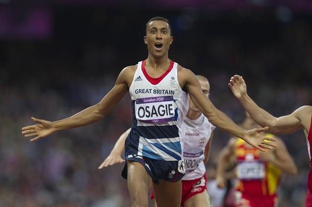Look at me.... I've bloomin well done it!!!  Andrew Osagie  Men's 800m semi final, second place and qualifed for the final, London 2012 Olympics.