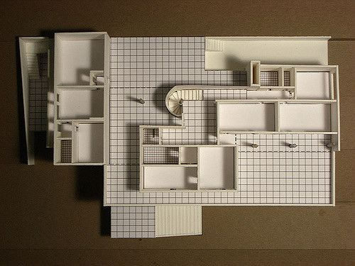 Model of Mies van der Rohe's Tugendhat House