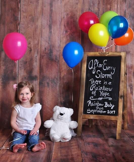 Rainbow baby announcement
