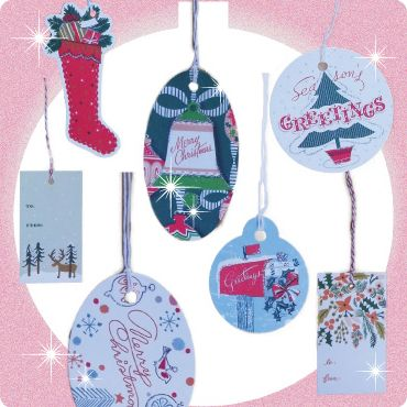 Every holiday gift needs a pretty card or tag to go with it.