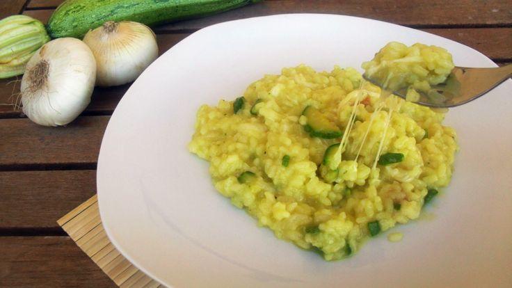risotto filante alle zucchine