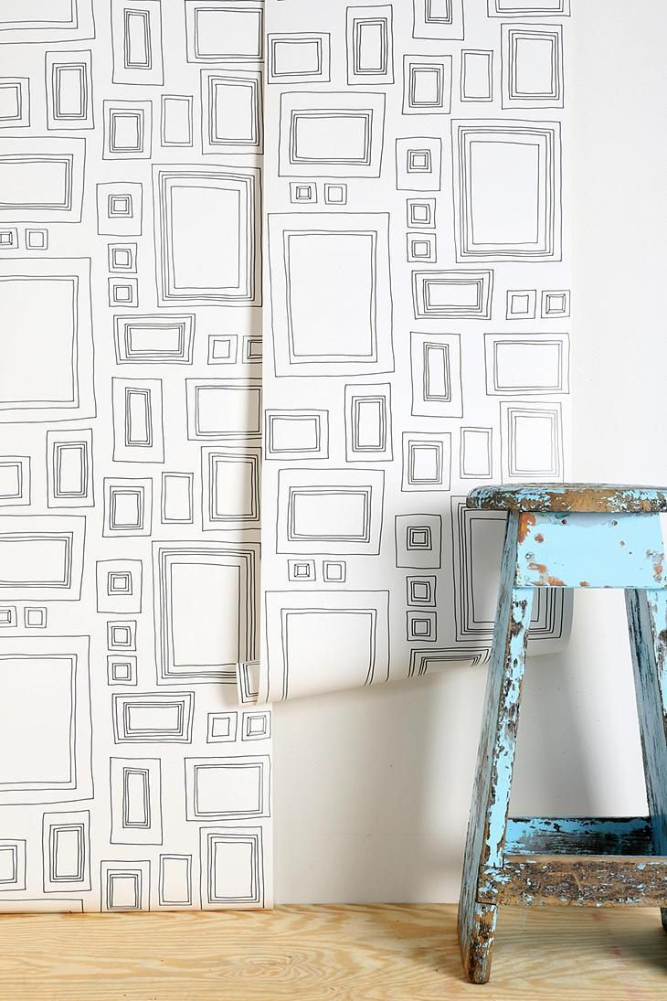 Graham & Brown Frame Wallpaper #urbanoutfitters kids playroom or bedroom and they can doodle inside