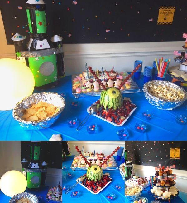 Sweet table - goûter de l'espace - anniversaire de l'espace - outer space birthday party