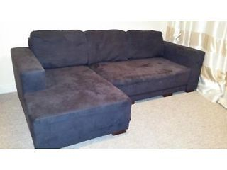 corner sofa bed lefthand facing graphite colour farnborough picture 1
