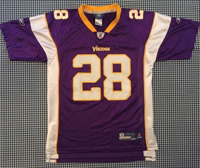 ... Adrian Peterson Minnesota Vikings Replica Jersey Reebok Youth Large  Purple NFL ... 1f76a7040
