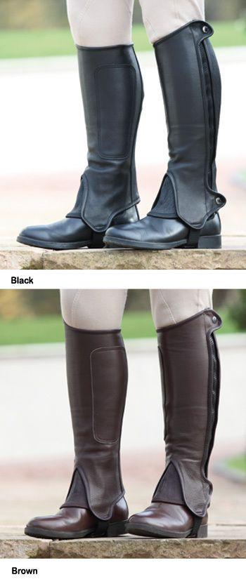 English Tack Store - Shires Performance Wortham Adults Leather Half Chaps, $110.95 (http://www.englishtackshop.com/shires-performance-wortham-adults-leather-half-chaps/)