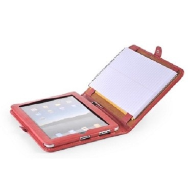 Simple Red Leather iPad Case for A5 Notepad | iCarryalls Leather Fashion  www.icarryalls.com