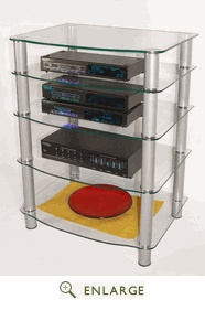 everest multilevel component stand in silver finish walker edison the extremely versatile tv component stand allows you to customize your