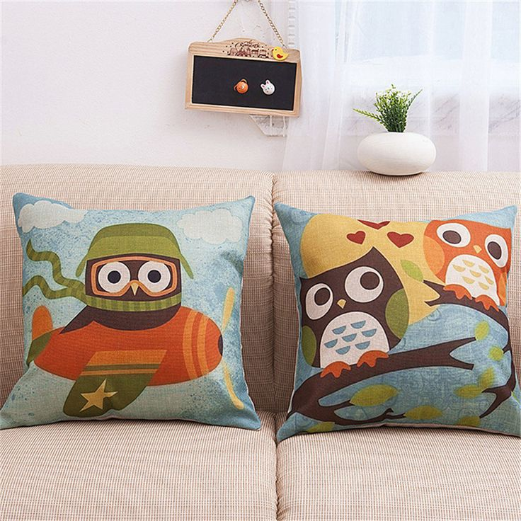 Find More Cushion Cover Information about new cheap cushion cover cartoon owl cushion home sofa car decorative pillows throw pillow case home decor almofadas cojines,High Quality cushion cover,China cotton linen cushion covers Suppliers, Cheap decorative throw pillows case from WK HomeTextiles Store on Aliexpress.com