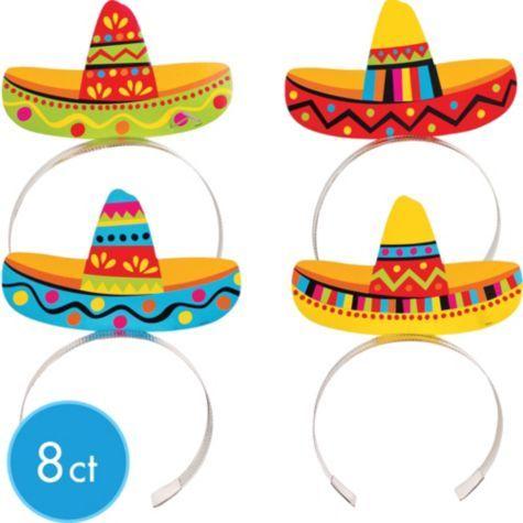 Sombrero Headbands 8ct 75¢ per piece!  SKU: 506193  Price: $5.99