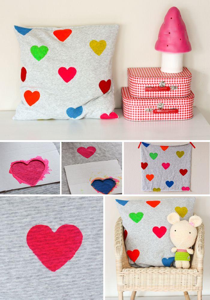 DIY ~ Hearts cushion