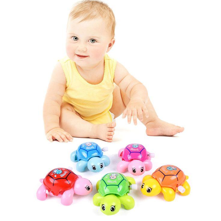 Carino Tartarughe Orologeria Tartaruga Animale Del Fumetto Del Bambino Giocattoli Bambino Strisciando Vento Fino Giocattolo Educativo Per Bambini Classic Toy Colore Casuale