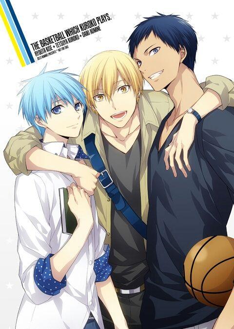 Love those three & their friendship ^_^   Kuroko Tetsuya   Aomine Daiki   Kise Ryouta