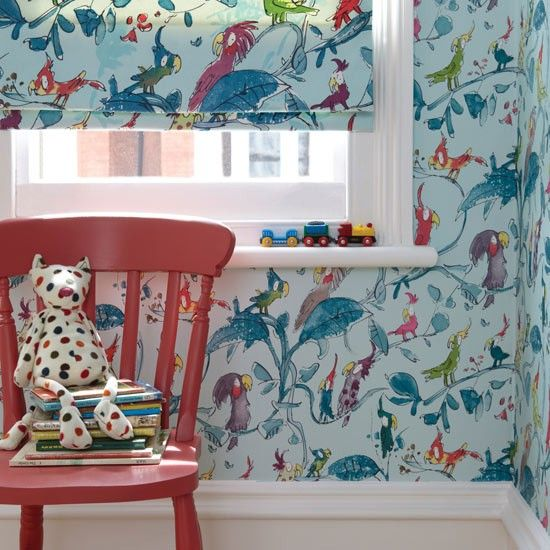 Cockatoos wallpaper by Quentin Blake for Osborne & Little | Bird wallpapers - 10 of the best | housetohome.co.uk