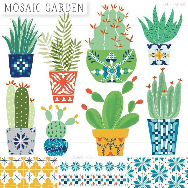 Mosaic-Garden_Set-Cover cactus illustration