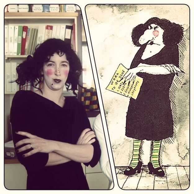 """Funny & cute HALLOWEEN COSTUMES for TEACHERS, LIBRARIANS, etc! Most based on favorite kids BOOKS or games! Here is """"The Swamp"""" (Miss Viola Swamp from Miss Nelson is Missing) 