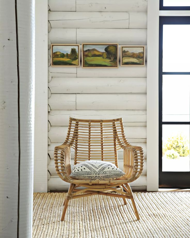 Living Room In Venice Fl: Venice Rattan Chair Via #serenaandlily