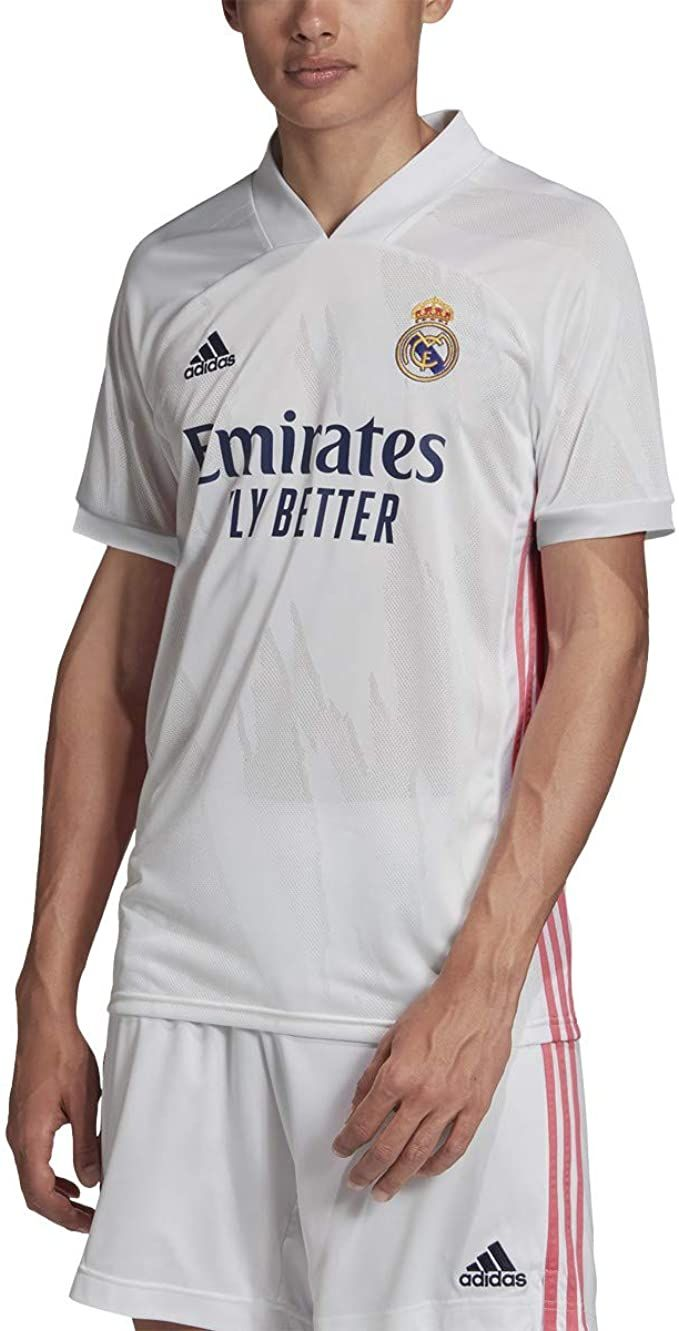 Real Madrid 20 21 Home Kits Football Soccer Soccer Jersey Real Madrid Soccer