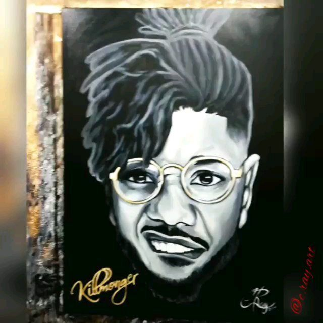 "#FanArt @c.ray.art killed this and made a video with one of my favorite songs from the #BlackPanther album ""Kings Dead""  All Hail King Killmonger  #WakandaForever  #MichaelBJordan #TeamMBJ #BlackPanther #ErikKillmonger"