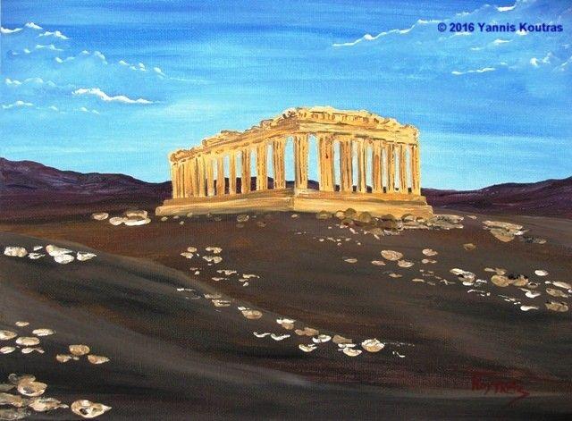 """""""Acrylic on Canvas"""" Code: Parthenon – Acropolis"""