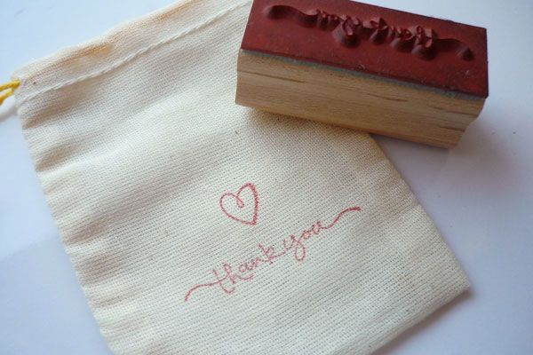 Make your own favor bags for guests! A possible for a Spring wedding is DIY seed cards which can be placed in the bag. =)