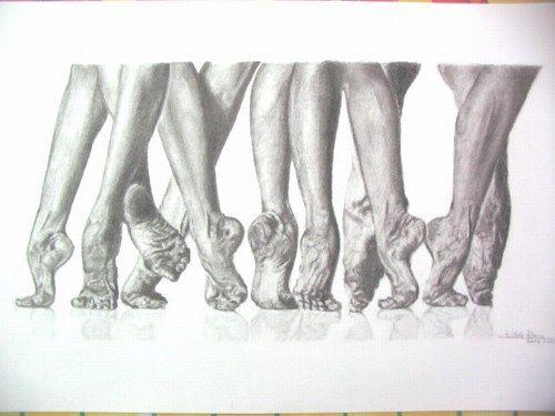 Mes dessins et peintures - Etude de pieds