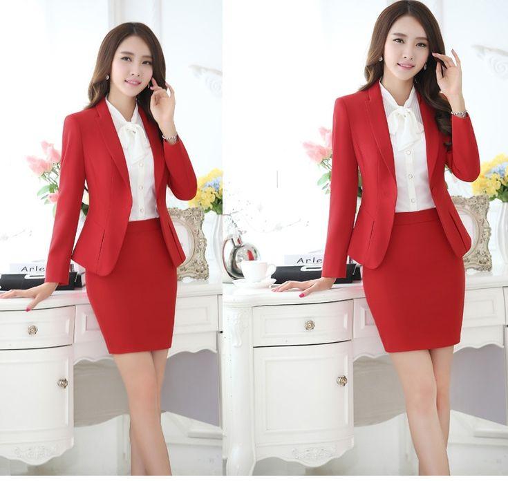 Plus Size Women Pant Suits Formal Work Pants Suits Elegant Woman Black Grey Red Female Trouser Suits for Women Ladies Pantsuit 2