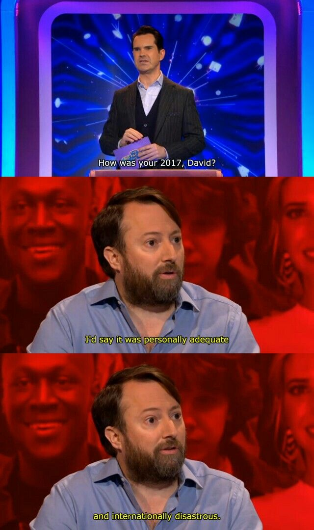 The Big Fat Quiz Of The Year 2017 Jimmy Carr David Mitchell