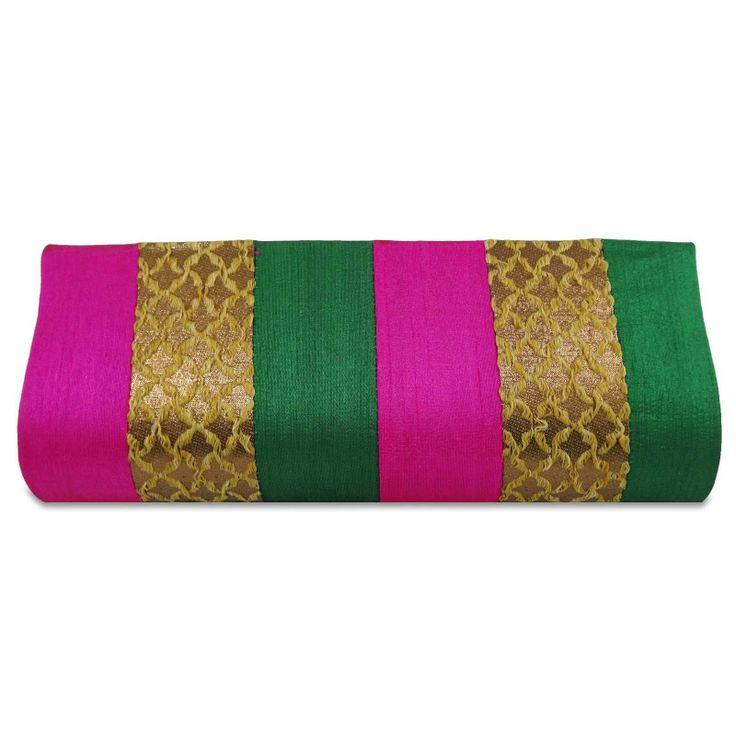 Multicolor Cotton fabric woman clutch purse / handbag. ..this is img